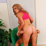 Busty MILF Sucking His Cock-11