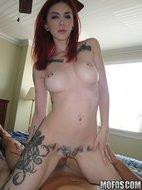 Redhead babe giving blowjob-07