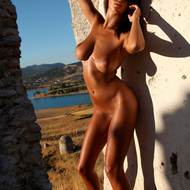 Outdoor nakednes by a busty model-09